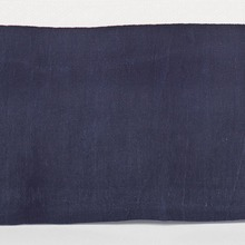 Stone Washed Linen Indigo Tailored Panel bed skirt