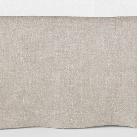 Stone Washed Linen Natural Tailored Paneled Bedskirt