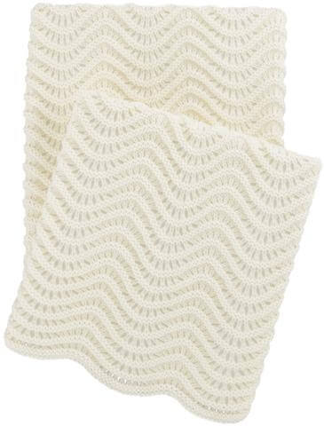 Swell Knit Ivory Throw