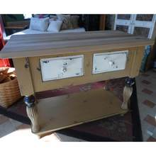 Kitchen Island with Two Drawers