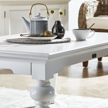 Cottage white rectangle coffee table