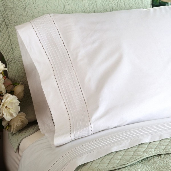Tailored White Pinefore Sheet Set by Taylor Linens