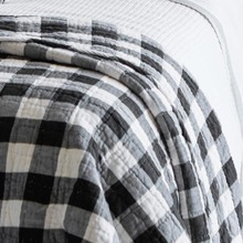 Parker Black & White Buffalo check throw