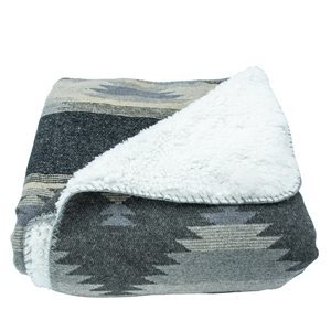 Southwestern Throw Gray