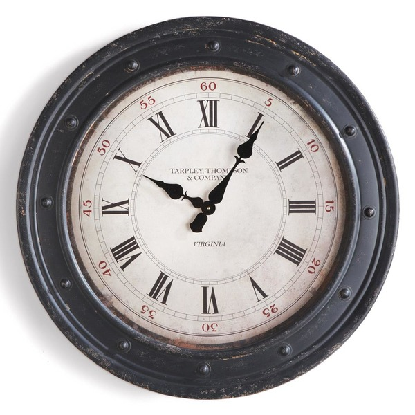 "Blacksmith clock 31"" diameter"