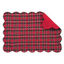 Tartan/Red Rect. Placemats/ SET of 4
