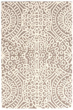 Temple Taupe Hooked Wool Rug