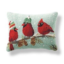 More about the 'Red Birds Hooked Pillow by Peking' product