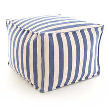 More about the 'Trimaran Stripe Denim/Ivory Indoor/Outdoor Pouf' product