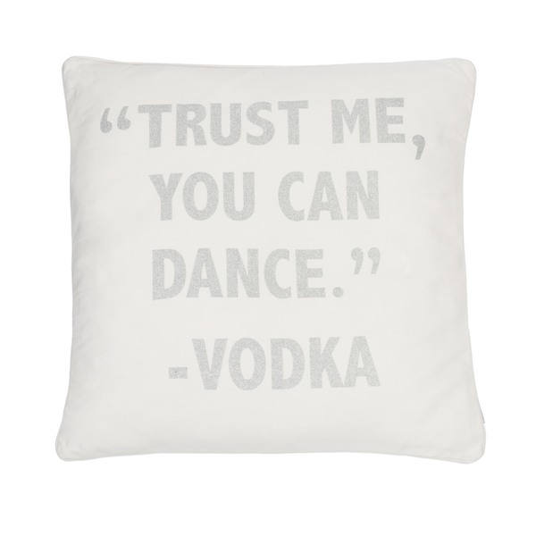 Trust Me You Can Dance Silver pillow