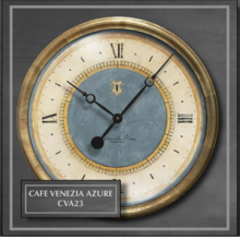 "More about the 'Caffe Venezia Azure 23"" Clock' product"