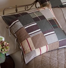 More about the 'Taylor Linens Watson Brown Patchwork Euro Sham' product