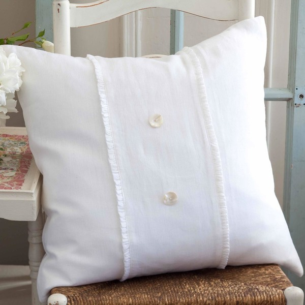 Hampton Porch Pillow White