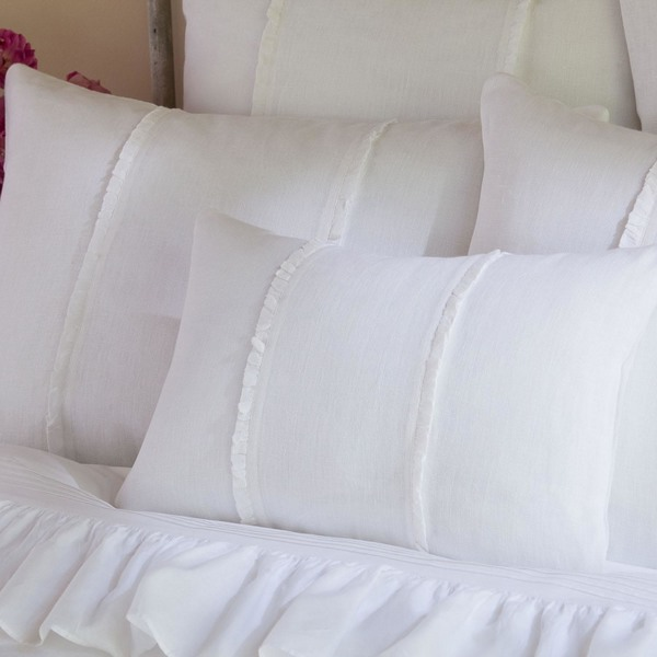 Hampton Boudoir Pillow White