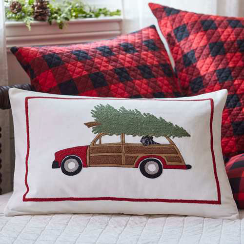 Woody Wagon Pillow