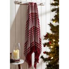 Whimsical candy cane throw