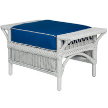 Windsor Ottoman in white
