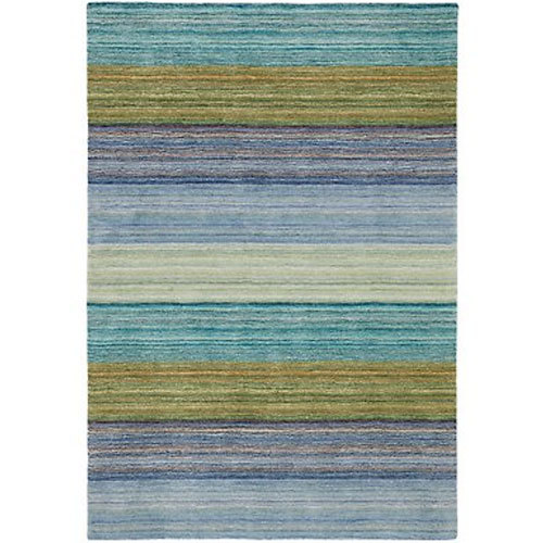 Brushstroke Blue Tufted Wool Rug by Company C