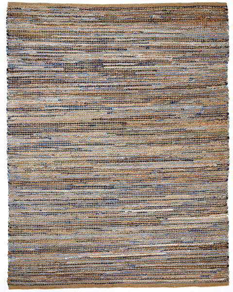 American Graffiti Jute and Reclaimed Denim Rug