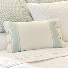 Taylor Linens Aqua Stripe Pillow