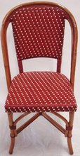 More about the 'St. Germain Rattan Bistro Chair - Burgundy' product