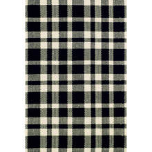 Tattersall Black /Ecru Woven Cotton Rug