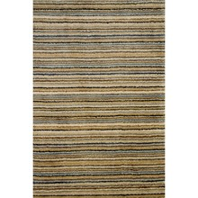 Brindle Stripe Mountain Hand Knotted Wool Rug