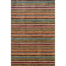 Brindle Stripe Spice Hand Knotted Wool Rug