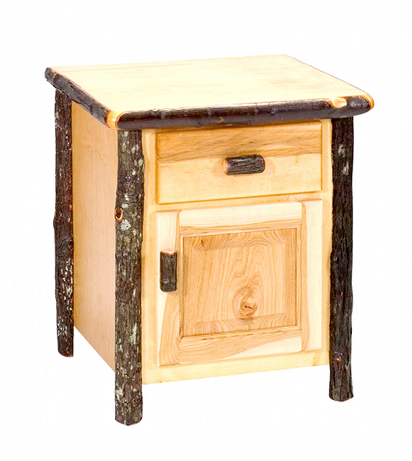 Hickory Enclosed End Table