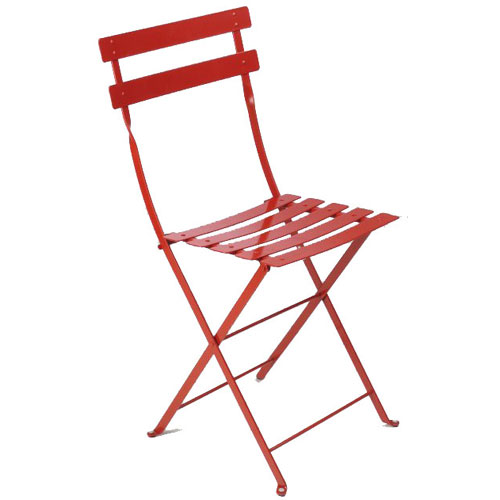 Genial Folding Metal Bistro Chairs Poppy