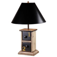 2 Drawer lamp w/Numbers