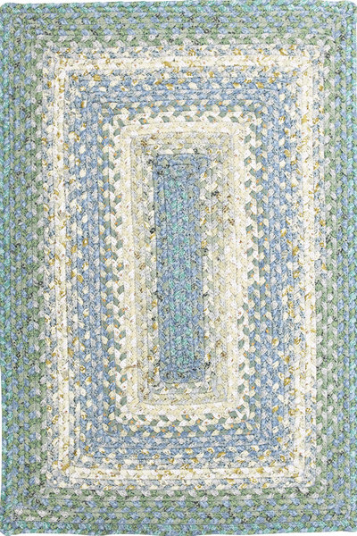 Baja Blue Braided Rug