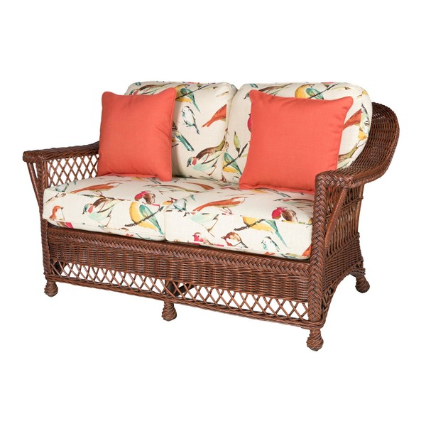 Bar Harbor Wicker Loveseat Coffee