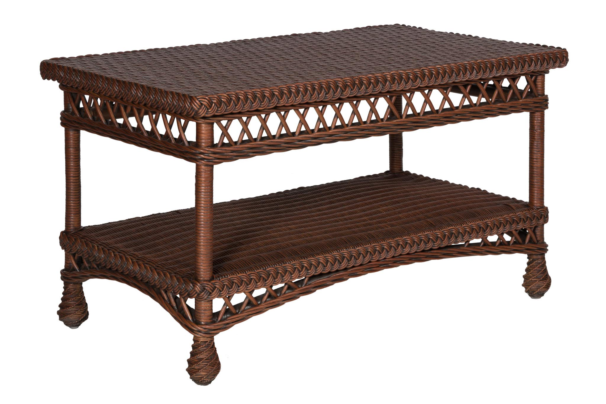 Bar Harbor or Rockport Wicker Coffee Table American Country