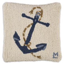 Blue Anchor on White Pillow