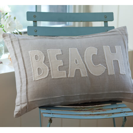 beach natural pillow
