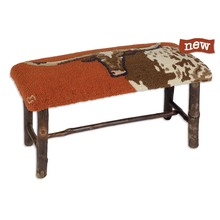More about the 'Longhorn Steer Hickory Bench' product