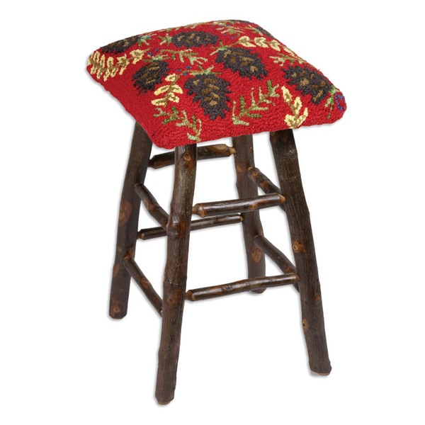 Ruby Pinecones Barstool