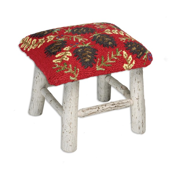 Ruby Pinecones Hickory Stool
