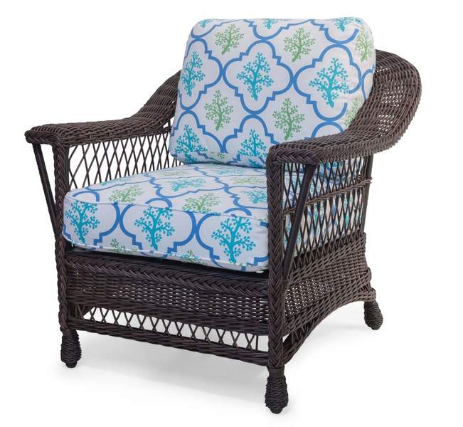 Bar Harbor Outdoor Wicker Chair- Dk. Chocolate