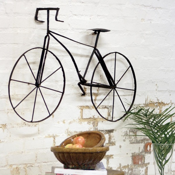 Scrap Metal Bicycle Wall Sculpture