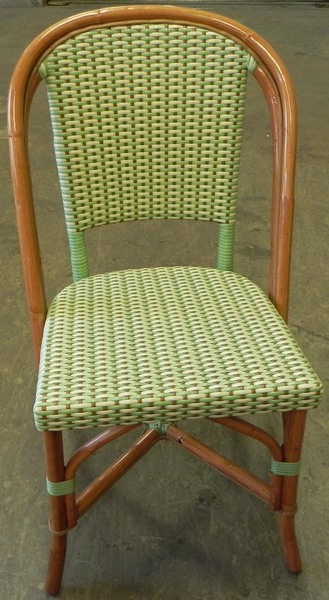 St. Germain Rattan Bistro Chair - Lime/Ivory
