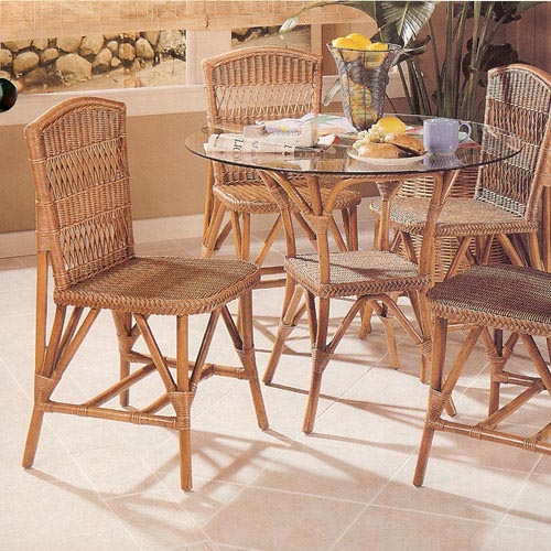Wicker Bistro Dining 6 Piece Set