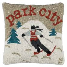 More about the 'Park City Skier Hooked Pillow by Chandler 4 Corners' product
