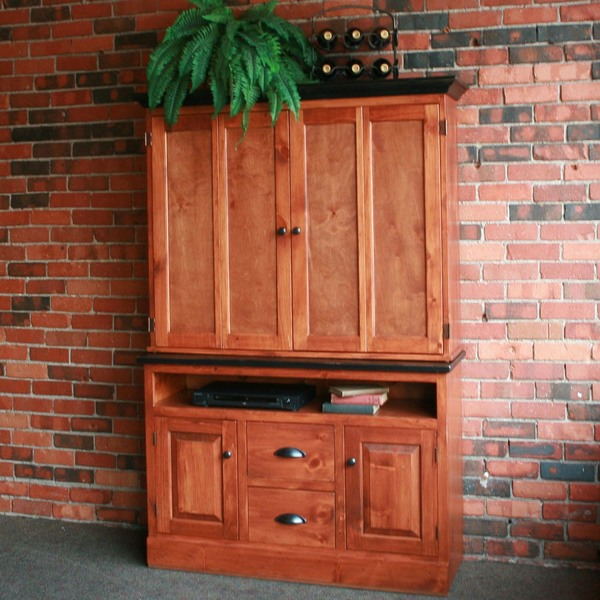 Flat Screen TV Cabinet with Widescreen Base