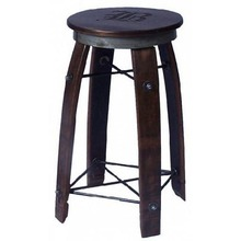 Wine Stave Swivel Top Bar Stool