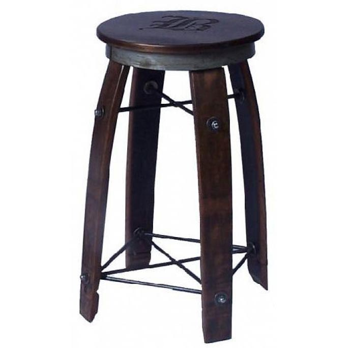 Charmant Wine Stave Swivel Top Bar Stool