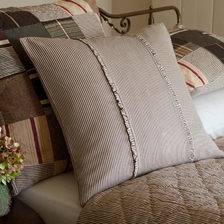 French Country Stripe Porch Pillow