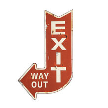 More about the 'Metal Exit Sign' product