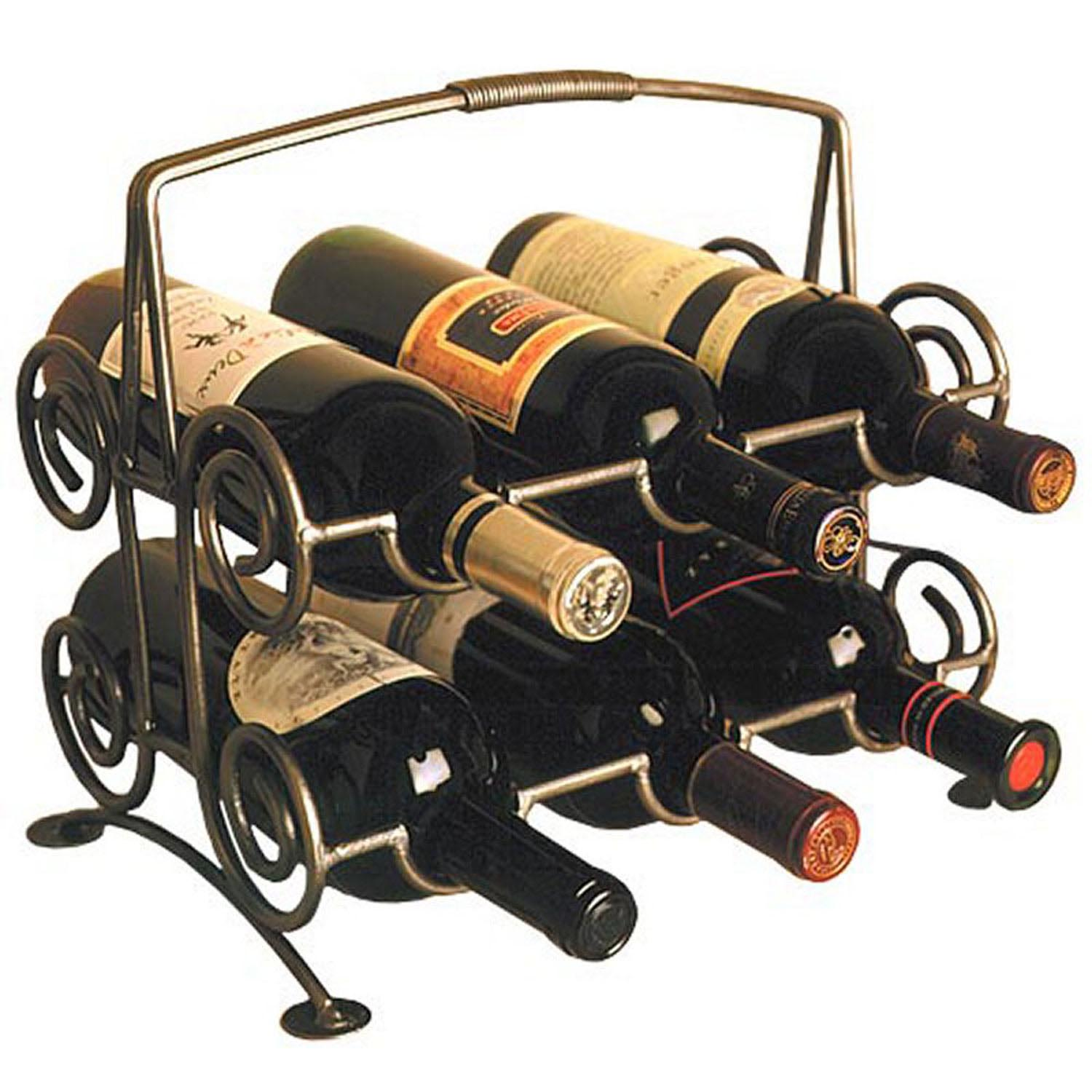 Six Bottle Cellar Master's Wine Rack | American Country on kitchen cabinets with wine racks, kitchen island with wine rack, kitchen cabinet coffee table, kitchen bar with wine rack,